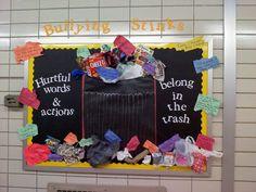 anti bully bulletin board | main bulletin board in the 7/8 grade hallway. October is Anti-Bullying ...