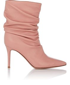 a01c35f9191b Gianvito Rossi Cecile Leather Ankle Boots - 7 Pink Shoes Heels Boots