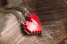 Legend of Zelda heart necklace