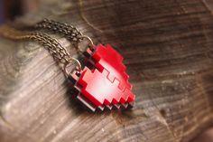 Legend of Zelda heart necklace