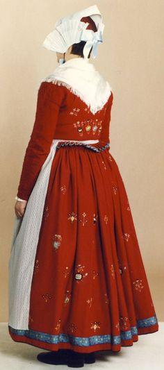 Ostjylland Folk Costume, Costumes, People Of The World, Danish, Denmark, My Girl, Scandinavian, High Waisted Skirt, Europe