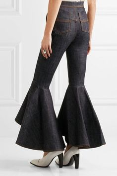 Ellery - Hysteria Cropped High-rise Flared Jeans - Dark denim - 2