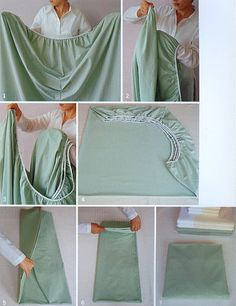 Your fitted sheets will be neat and flat.   44 Reasons Why Your Life Will Be So Much Easier In 2013