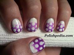 Ombre and Polka Dot Nail Art