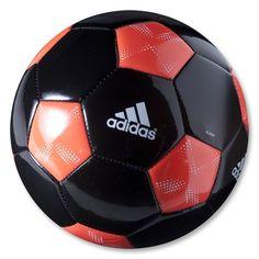 adidas 11 Glider Soccer Ball (Black/Infrared/White)