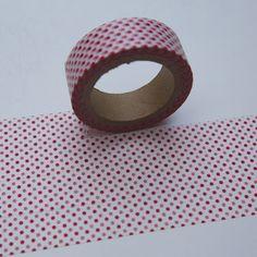 Washi Masking Tape rot MICRODOTS PUNKTE von washitapes auf DaWanda.com