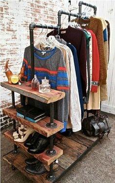 percheros de hierro con estantes - Buscar con Google #remodelaciondedormitorio