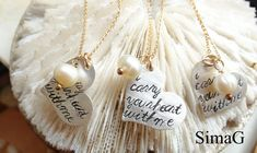 Inspired by the beautiful poem by E E Cummings-Hand Stamped By Simag. $60.00, via Etsy.