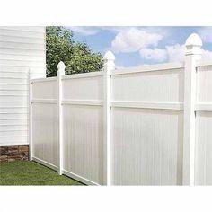 Outdoor Decor/Privacy; Flat-Top Vinyl Fence Panel @Barbara Acosta Whitlow Bills McAfee's. #outdoor