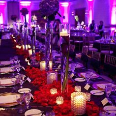 My wedding...long enough table for bridal party and dates.