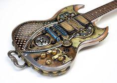 Gibson SG Steampunk Guitar Custom Made Mooney | eBay