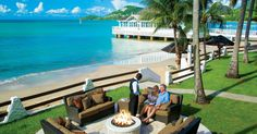 Sandals-Halcyon-Beach-St-Lucia.  Fine dining, unlimited land and water sports, pools, golf and more!  Call us for more information on this beautiful Resort. Find us at  http://destination-wedding-experts.com