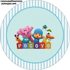 Making My Party!: Pocoyo - Complete Kit with frames for invitations, labels for goodies, souvenirs and pictures!