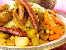 Couscous royal marocain - Recettes - The Best Authentic Mexican Recipes Authentic Mexican Recipes, Mexican Food Recipes, Ethnic Recipes, Moroccan Recipes, Kosher Recipes, Cooking Recipes, Healthy Foods To Eat, Healthy Recipes, Moroccan Couscous