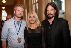 John Paul White Photos Photos - Kos Weaver, Jenny White, and John Paul White…