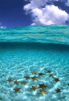 Agua con estrellas