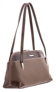Italian brown leather handle handbag
