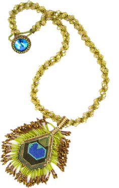 Laura McCabe Peacock Necklace at beadseast.com