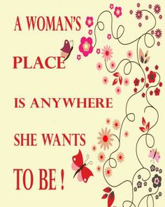 A Woman's Place, 8x10 color print, wall art, room decor, female, humorous, funny,  by pdmphotography for $15.00