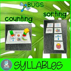 BUGS Phonological Awareness Fun~Rhyming, Alliterations, and Syllables Phonological Awareness Activities, Rhyming Activities, Beach Theme Preschool, Preschool Themes, Print Awareness, Preschool Special Education, Alliteration, Syllable, Small Groups