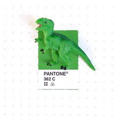 Pantone 362 color match. A tiny T-Rex.
