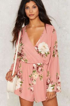 What Goes Bloom Floral Romper