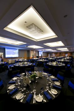 Ballroom Corporate Function Set Up Office Christmas Party, Party Places, Event Management, Event Decor, Corporate Events, Parties, Decor Ideas, Table Decorations, Luxury
