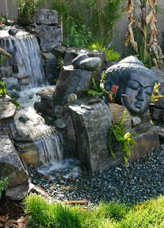 Artscapes backyard waterfalls, water features design and installation in Peninsula and Bay Area
