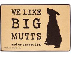 WE LIKE BIG MUTTS DOORMAT