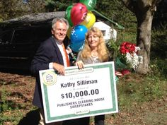 Congratulations to Kathy Silliman of La Follette, TN! She received a visit from the Prize Patrol this morning and a big check for $10,000!