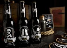 Very nice pirate-themed beer bottles