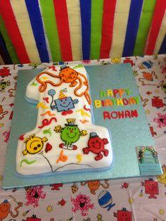 Mr Men 1st Birthday cake