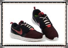 new styles 4b743 01526 Uomo Nike Roshe Run NM BR 3M 644425-090 Coal Nero Coal Nero Alert  Rosso Sail Bianco palloni calcio