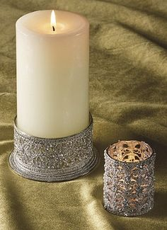 Our Swarovski crystal-encrusted Tea Light Holders enhance the romance and mystery of candlelight.