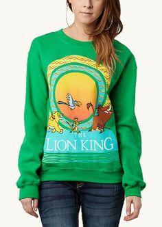 Lion King Sun Retro Sweatshirt | Tops | rue21