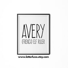 Avery Name Meaning Art Printable Baby Shower Gift Nursery Printable Art Di - Baby Name Suggestions - Ideas of Baby Name Suggestions - Avery Name Meaning Art Printable Baby Shower Gift Nursery Printable Art Digital Print Nurser Baby Names 2018, Baby Girl Names, Kid Names, Baby Girls, Baby Names And Meanings, Names With Meaning, Baby Wall Decor, Name Suggestions, Typography Inspiration