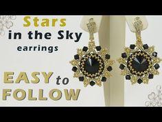(35) Handmade earrings with 14 mm rivolis tutorial for beginners - YouTube
