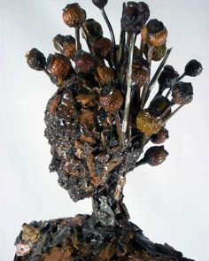 Tree bark & (polyurethane) coated with resin for added strength and to preserve the natural materials. Stick Art, Sculpture Clay, Art Portfolio, Prehistoric, Clay Art, Wood Art, Amazing Art, Art Dolls, Objects