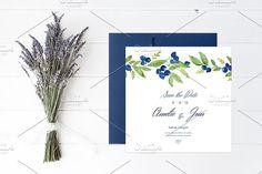 Blueberry Wedding Collection by NinaDolgopolova on @creativemarket