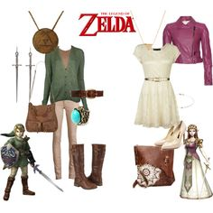 """""""Legend of Zelda"""" by gigglemadly on Polyvore Especially love the Link one!!"""