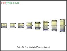 CAD Format: AutoCAD 2013  Block Type: 8 3D Solids  Units: mm  Description:  All blocks were created by using AutoCAD Solids and from technical data sheets and catalogues, Their dimension are as accurately as possible and only fine details (manufactures names etc.) or internal parts have been omitted reduce computing resources.  None of these blocks are official to any manufacture.     Sizes  50mm, 65mm, 80mm, 100mm, 150mm, 200mm, 250mm, 300mm Autocad, All Block, Cad Blocks, Data Sheets, Names, The Unit, 3d, Type, Couples