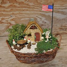 Oval Willow Basket #miniature #garden