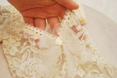 Lace footed romper baby girl newborn romper photo prop   Etsy