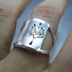 Leafy Silver Tree Ring By Beth Millner by BethMillnerJewelry, $165.00