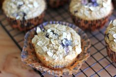 Blueberry Orange Oatmeal Muffins. Definitely going to try these but will use my doTERRA wild orange essential oil in place of the orange zest.