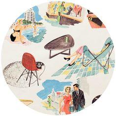 Alexander Henry, Vinyl Vacation Light Tea