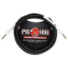 """Pig Hog Instrument Cable 1/4"""" - 1/4"""" (1 ft.) 1 ft."""