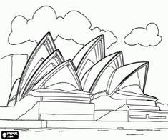 Omalovánka Sydney Opera House, Austrálie