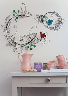 wire wall sculptures