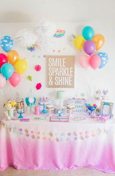 Unicorn Tablecloth - Unicorn Birthday - Unicorn Party - Unicorn Table - Ombre Linen - Ombre Tablecloth - Unicorn Birthday Tablecloth - Ombre